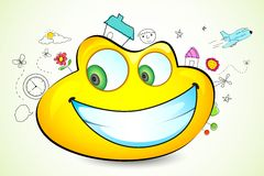 Sketchy object around Smiley Stock Photography