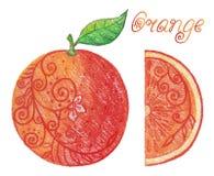 Sketchy orange Stock Images