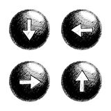 Sketchy Orb Button Stock Photography