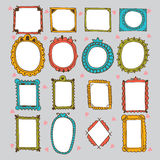 Sketchy ornamental frames and borders. Doodles frame set.  Stock Photos