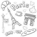 Sketchy Paris Royalty Free Stock Photos