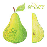 Sketchy pear Royalty Free Stock Photography
