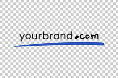 Sketchy Placement to Add your Website Address at Brochure, Cover, Business ID, etc, at Transparent Effect Background. Vector Sketchy Placement to Add your Royalty Free Stock Photography