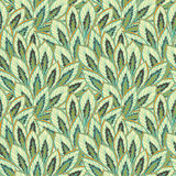 Sketchy plants patterns. Vector art Royalty Free Stock Image