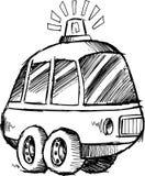 Sketchy Police Car Vector Stock Image