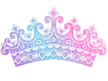 Sketchy Princess Tiara Crown Notebook Doodles Royalty Free Stock Photos