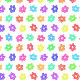 Sketchy Rainbow Flower Pattern Royalty Free Stock Image