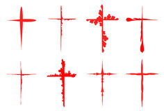Sketchy red crosses collection Stock Photo