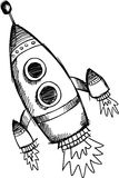 Sketchy Rocket Vector Illustration Stock Photos