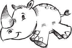 Sketchy Safari Rhino Vector Illustration Royalty Free Stock Images