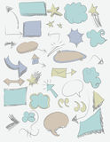 Sketchy Shapes. Collection of hand drawn sketched shapes vector illustration
