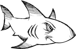 Sketchy shark Vector Stock Photography