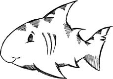 Sketchy shark Vector Illustration Stock Photos