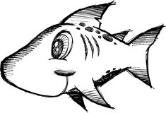 Sketchy shark Vector Illustration Stock Image