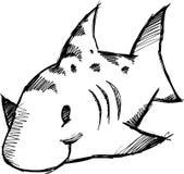 Sketchy Shark Vector Illustration Stock Images