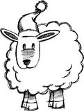 Sketchy Sheep Lamb Vector Royalty Free Stock Photography