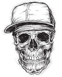 Sketchy Skull with Cap and Bandana Royalty Free Stock Images