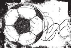 Sketchy Soccer ball background Stock Photo