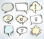 Sketchy speech bubbles Royalty Free Stock Images