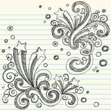 Sketchy Stars Back to School Doodle Set Vector. Hand-Drawn Sketchy Back to School Style Notebook Doodles with Stars and Swirls. Vector Illustration Design Stock Image