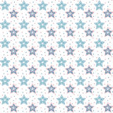 Sketchy stars background. Royalty Free Stock Images