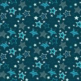 Sketchy Stars Seamless Repeat Pattern Illustration Stock Photography