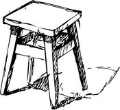 sketchy stol Fotografering för Bildbyråer