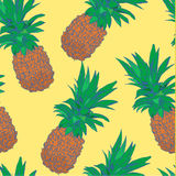 Sketchy style pineapple seamless pattern.  Royalty Free Stock Image