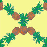 Sketchy style pineapple seamless pattern.  vector illustration