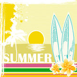 Sketchy summer card Royalty Free Stock Photos