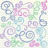 sketchy swirls för tillbaka klotterskola till vektorn vektor illustrationer