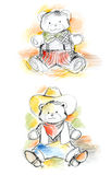 Sketchy Teddy Bears Royalty Free Stock Images