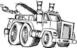 Free Sketchy Tow Truck Vector Royalty Free Stock Photos - 9924998