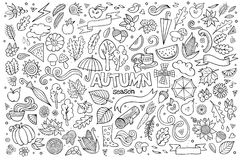 Sketchy vector hand drawn Doodle cartoon set of Stock Photos