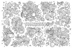 Sketchy vector hand drawn Doodle cartoon set of Royalty Free Stock Photography