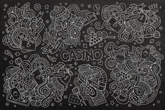 Sketchy vector hand drawn doodles cartoon set of Casino objects Royalty Free Stock Photography
