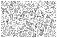 Sketchy vector hand drawn doodles cartoon set of Stock Photography