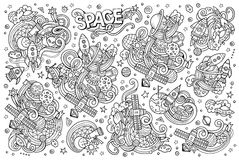Sketchy vector hand drawn doodles  Stock Photo