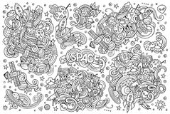 Sketchy vector hand drawn doodles cartoon set of Royalty Free Stock Photo