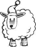 sketchy vektor för lambfår royaltyfri illustrationer