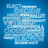 Sketchy vote text design. Sketched hand drawn election text design background Stock Images