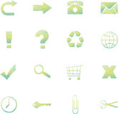 Sketchy Web Icons Stock Photography