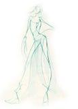 Sketchy Woman Figure Stock Photo