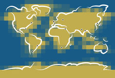 Sketchy World Map Royalty Free Stock Photo