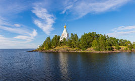 Skete  of St. Nicholas. Valaam orthodox Transfiguration  monaster Stock Photo