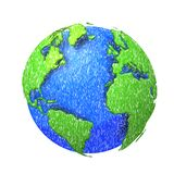 Sketh globe of the world. Royalty Free Stock Photography