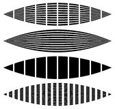 Skeva förvridna rektanglar, lodlinje, horisontallinjer Uppsättning av Arkivfoton