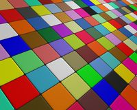 Skew multicolor floor fleeing to the horizon Stock Photo