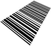 Skewed Barcode Background Macro Closeup Isolated. Large skewed Barcode Background Macro Closeup, Isolated On White Stock Images