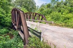 Skewed Pony Truss Bridge Royalty Free Stock Photography